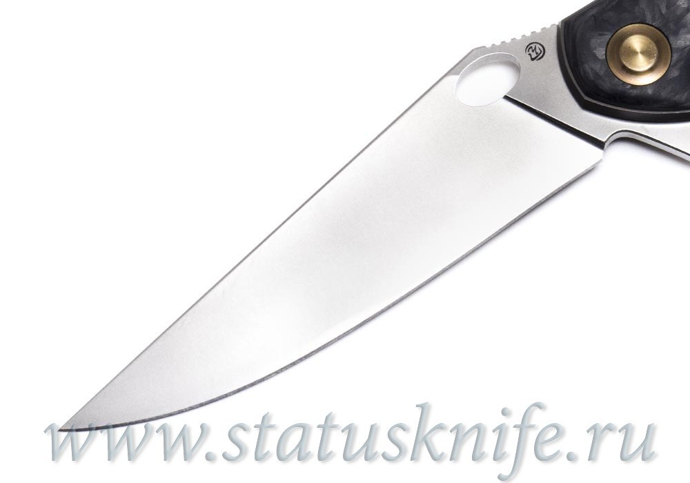 Нож Чебуркова Ворон М390 Карбон Мраморный - фотография