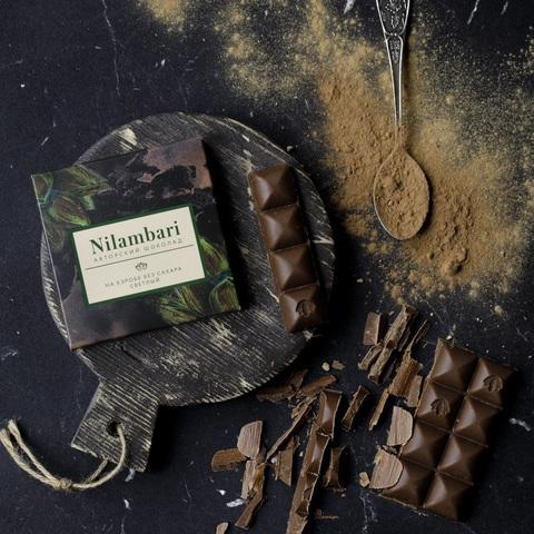Фотография Шоколад Nilambari на кэробе светлый без сахара / 65 гр купить в магазине Афлора
