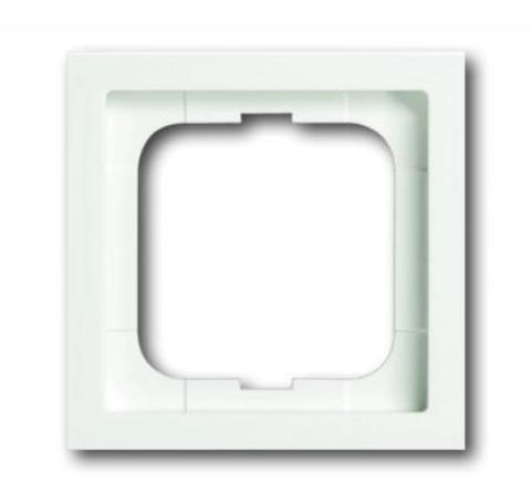 Рамка на 1 пост. Цвет Белый матовый. ABB(АББ). Future Linear(Фьючер Линеар). 1754-0-4531