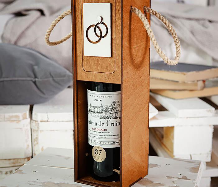 BOX260-2 Коробка для винной церемонии на свадьбу (33*10*10,5 см) фото 09