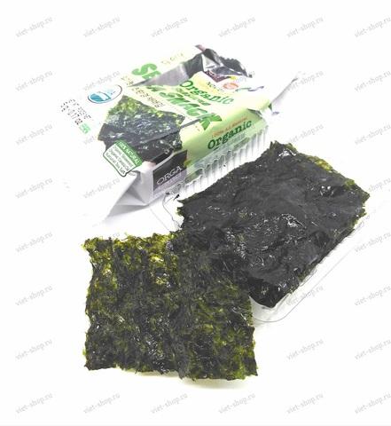 Корейская сушеная обжаренная морская капуста органическая, 5 гр.