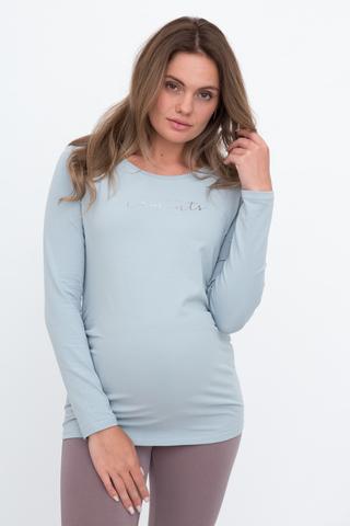 Лонгслив для беременных 10989 голубой