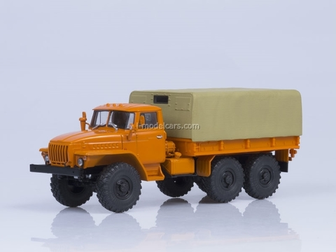 Ural-4320 board with awning orange-beige AutoHistory 1:43