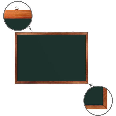 Доска для мела магнитная BRAUBERG, зеленая, деревянная окрашенная рамка