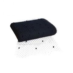 Вуаль сетка для шляп с мушками, ширина 30 см., темно-синий