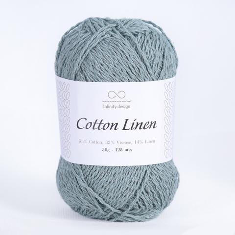 Пряжа Infinity Cotton Linen 6841 пыльная мята