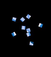 Конфетти металлизированное, Квадрат, Синее, 6*6мм, / 100г. /