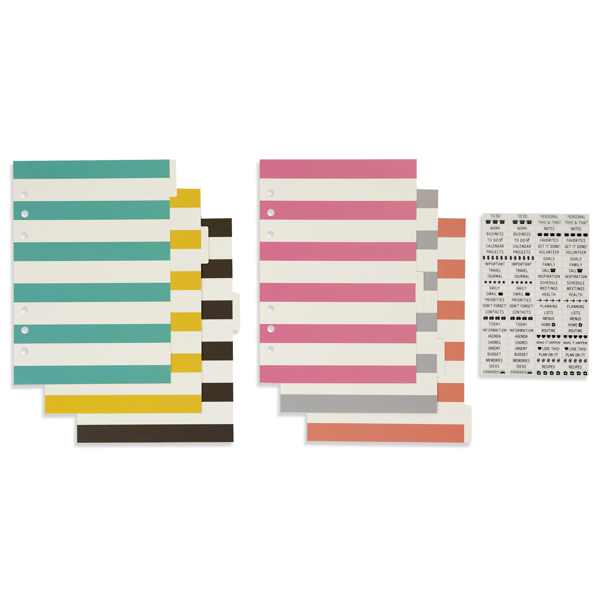 Комплект разделителей с наклейками  для планнера  - A5 BASIC DIVIDERS