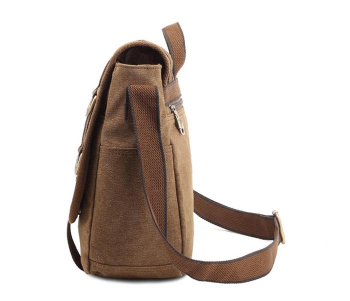 BAG390-2 Удобный мужской портфель из ткани цвета хаки с ремнем на плечо (вмещает А4) фото 03