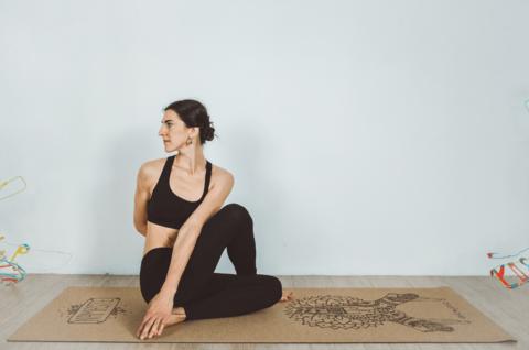 Коврик для йоги Namaste Cork 183*66*0,4 см из натуральной пробки