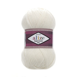 Alize Superwash 01 молочный