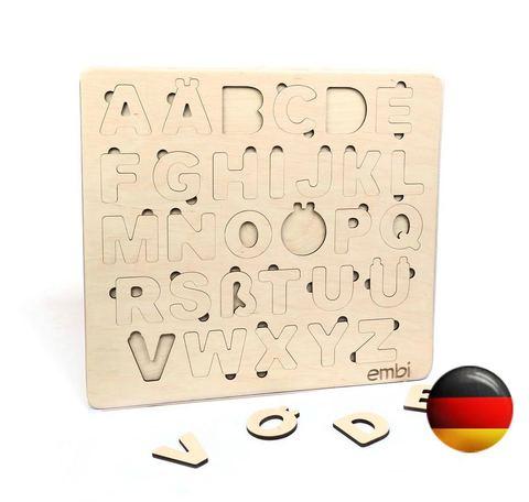 Деревянная азбука немецкий язык (размер макси)