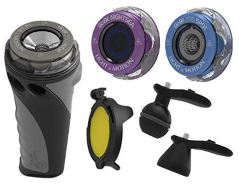Комплект GoBe Combo Kit (фонарь Wide 700, головки Spot 700 и NightSea, адаптеры)