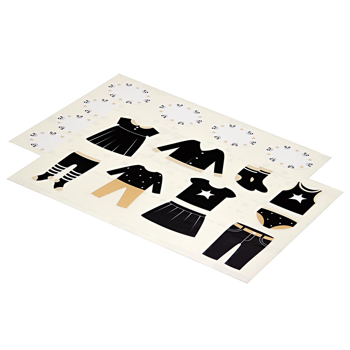 Комплект наклеек в детскую комнату 21×29,7 см, 2 листа, монохром