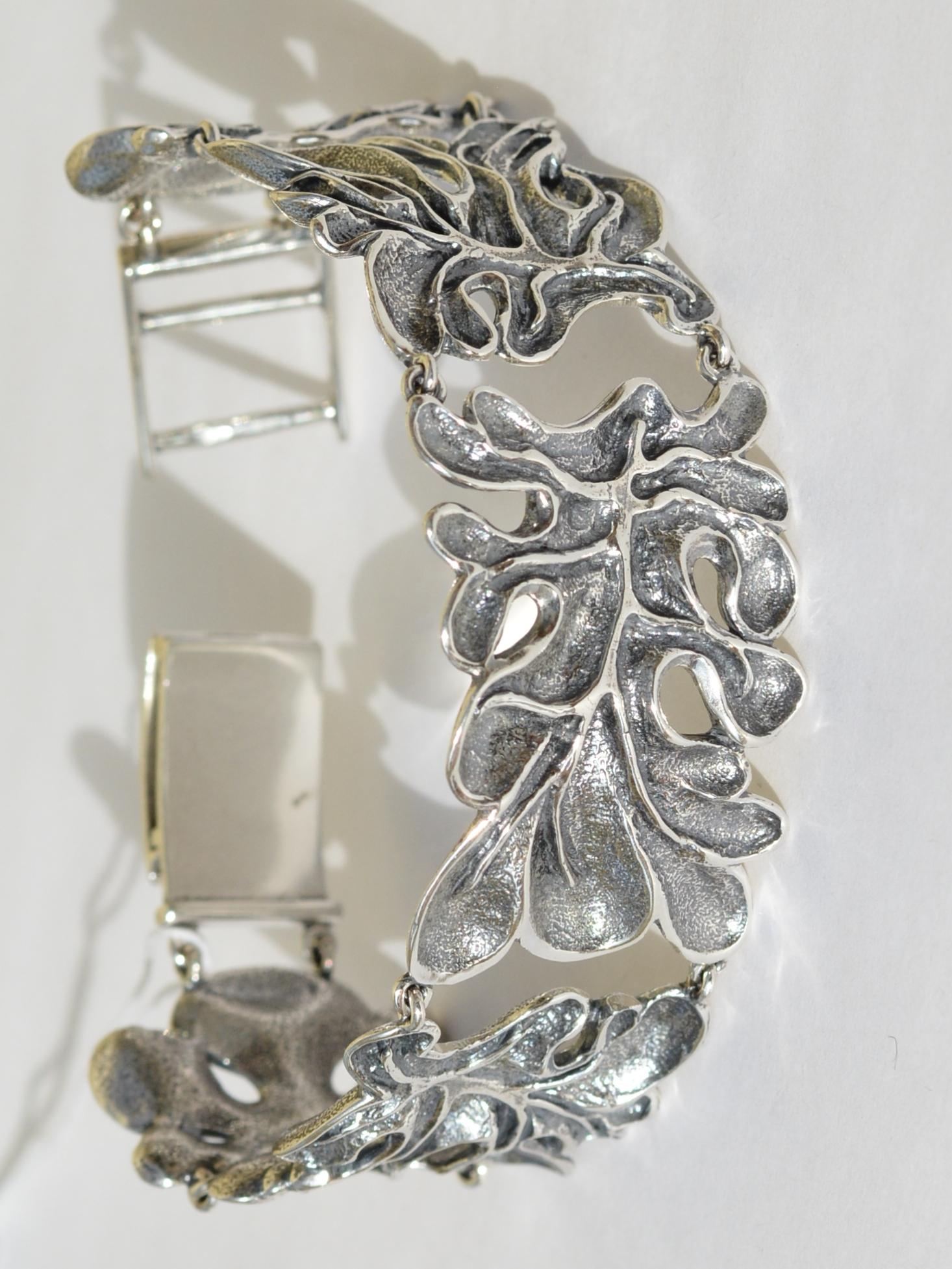 Лесли (серебряный браслет)
