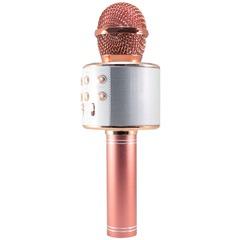 Беспроводной караоке микрофон WS-858(розовое золото)
