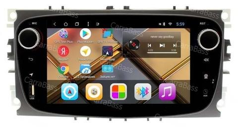 Магнитола для Ford овальная (чёрный) Android 8.1 2/32GB модельCB3197T8