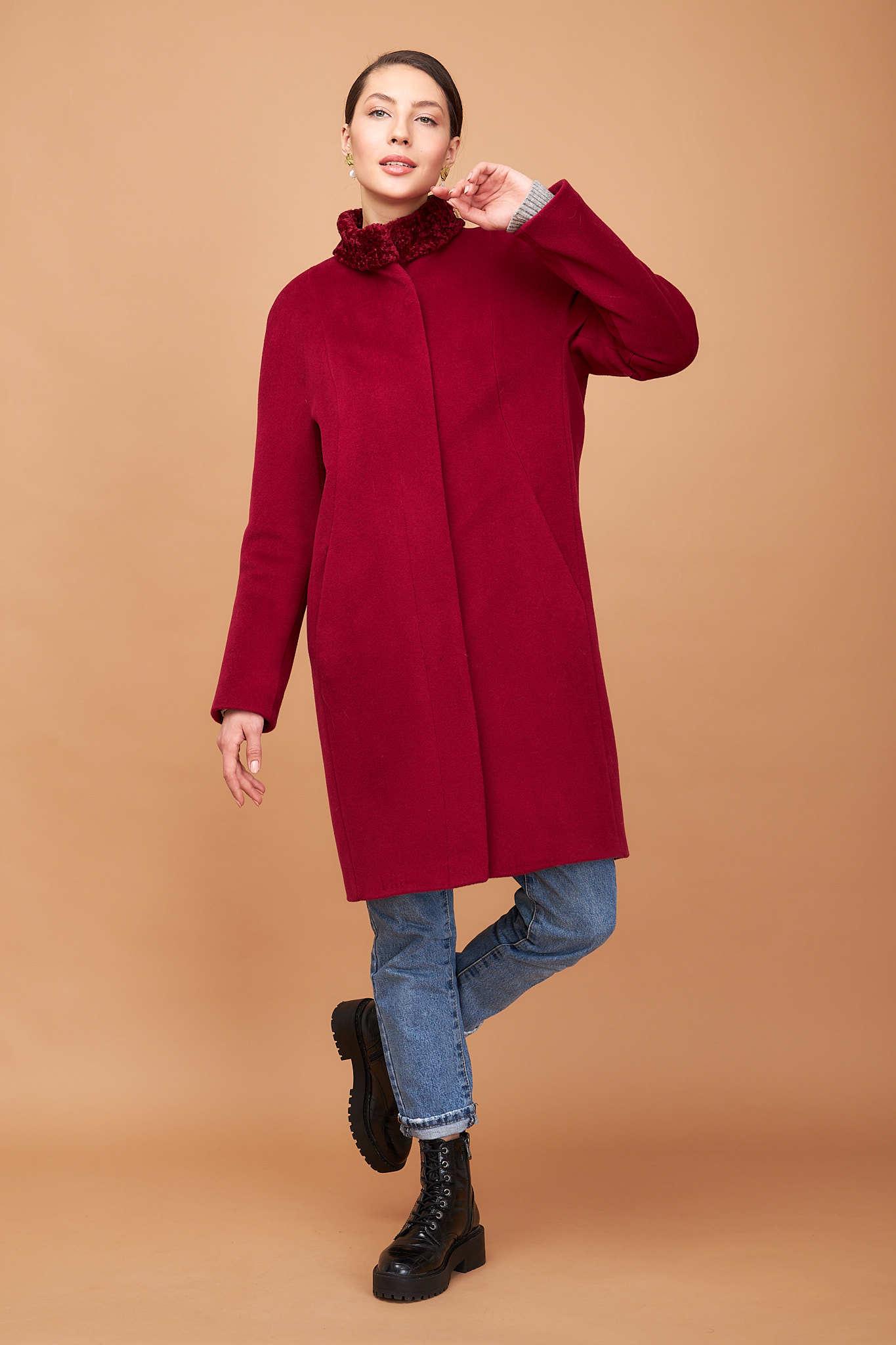 Пальто-кокон зимнее