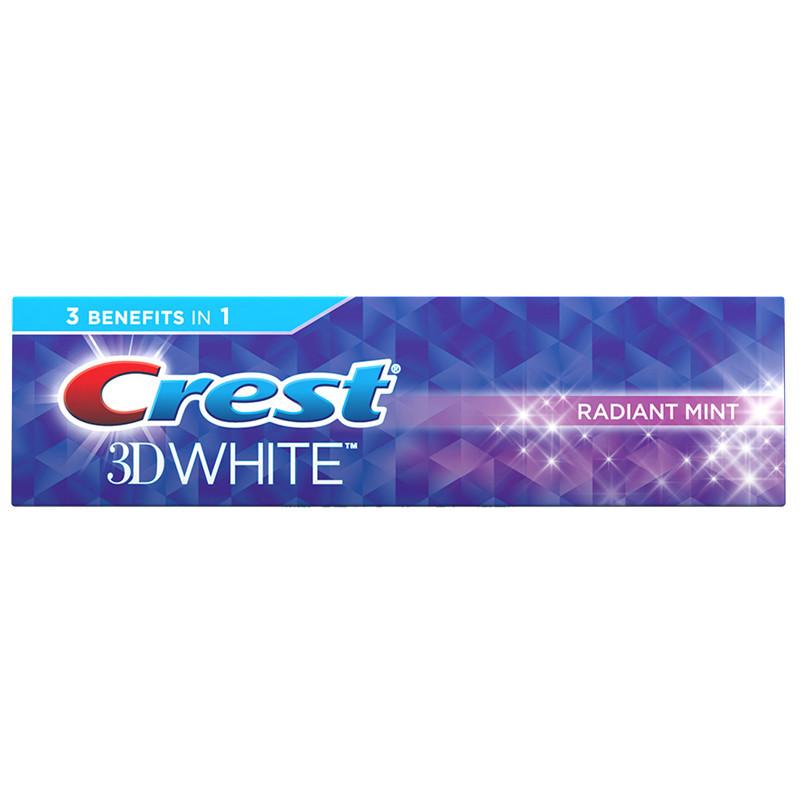 Отбеливающая зубная паста Crest 3D White Radiant mint 99гр