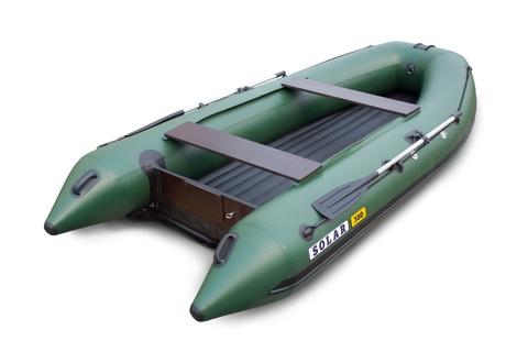Надувная ПВХ-лодка Солар Оптима - 380 (зеленый)