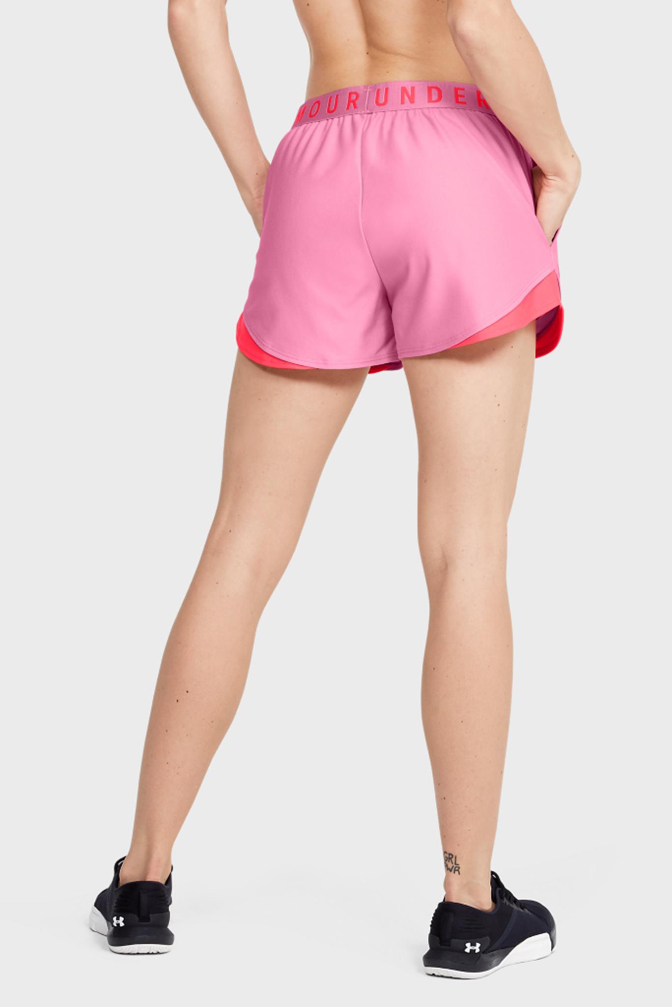 Женские розовые спортивные шорты Play Up Short 3.0 Under Armour