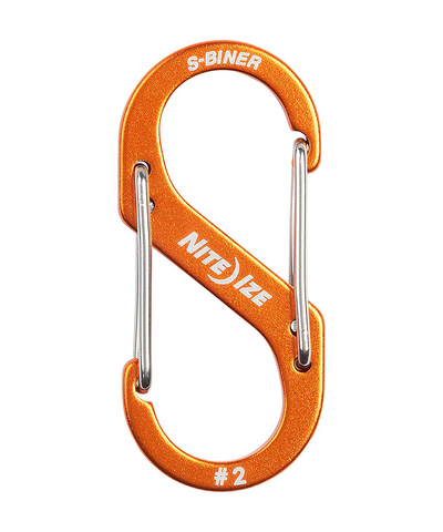 Карабин металлический NiteIze S-Biner Carabiner, алюминевый,размер 2, оранж.