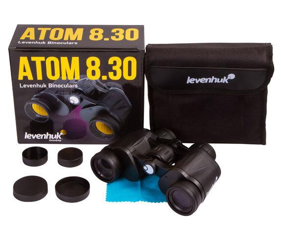 Бинокль Levenhuk Atom 8x30 - фото 2 - комплект поставки