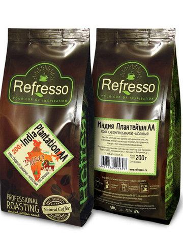 "Кофе молотый ""Индия Plantation АА"", 200 г, Refresso"