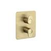 Встраиваемый термостатический смеситель для душа ALEXIA 368712SOC золотой, на 2 выхода - фото №1