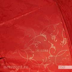 Женский зонт Три Слона L3706 автомат Эпонж красный с узорами