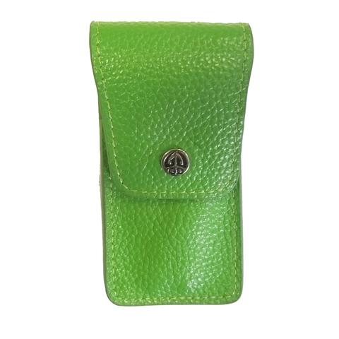 Маникюрный набор GD, 3 предмета, цвет зеленый, кожаный футляр