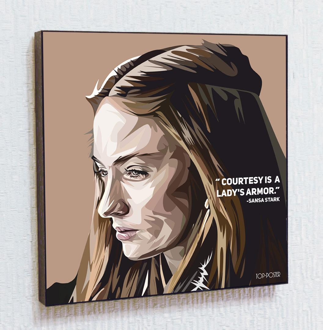 Картина Санса Старк в стиле ПОП-АРТ Игра Престолов