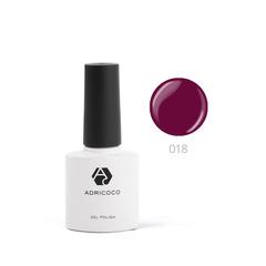 Цветной гель-лак ADRICOCO №018 бургунди (8 мл.)