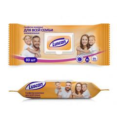Влажные салфетки универсальные Luscan 80 штук в упаковке