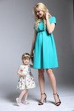 Платье для беременных и кормящих 09273 зеленый