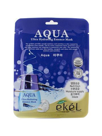 ТКАНЕВАЯ МАСКА ДЛЯ ЛИЦА Ekel Ultra Hydrating Essence Mask Aqua Т