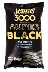 Прикормка Sensas 3000 Super BLACK Carp 1кг