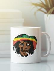 Кружка с рисунком Боб Марли (Bob Marley) белая 005