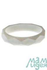 Молочный браслет из пищевого силикона МАМидея белый