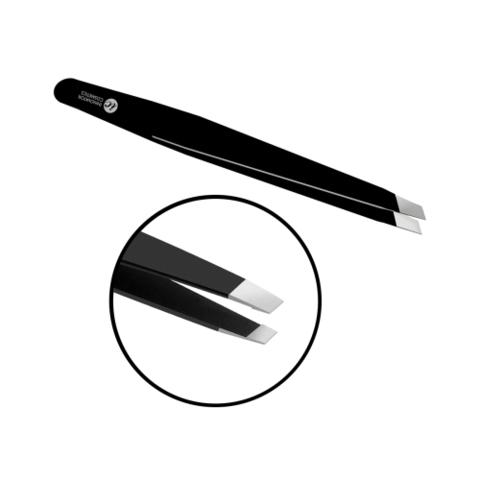 Пинцет для бровей прямой (скошенный)