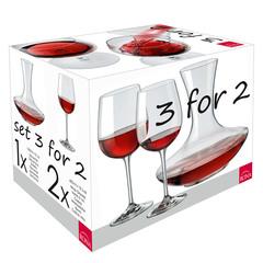 Набор для вина Rona WineSet, 3 предмета (декантер и 2 бокала), фото 3