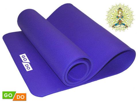 Коврик для йоги и фитнеса. Цвет: синий: BLUE К6010
