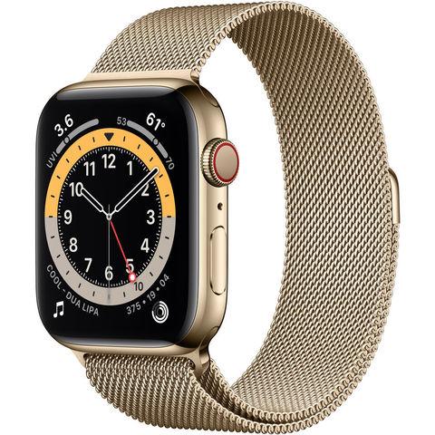 Часы Apple Watch Series 6 GPS + Cellular 44mm Stainless Steel Case with Milanese Loop Gold (Золотистый) (M07P3,M09G3)