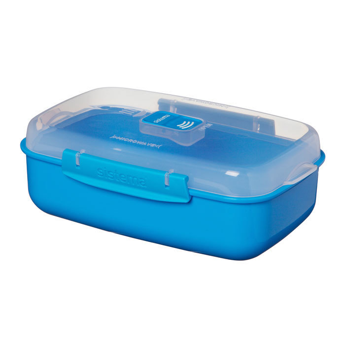 "Контейнер для СВЧ Sistema ""Microwave"" 1,25 л, цвет Голубой"