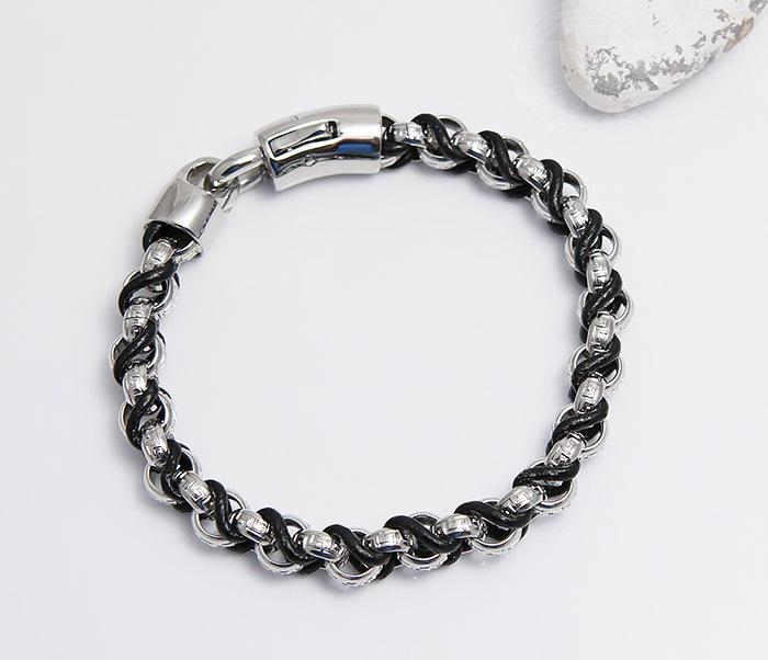 BM491 Мужской браслет цепь с необычными звеньями (22 см) фото 04