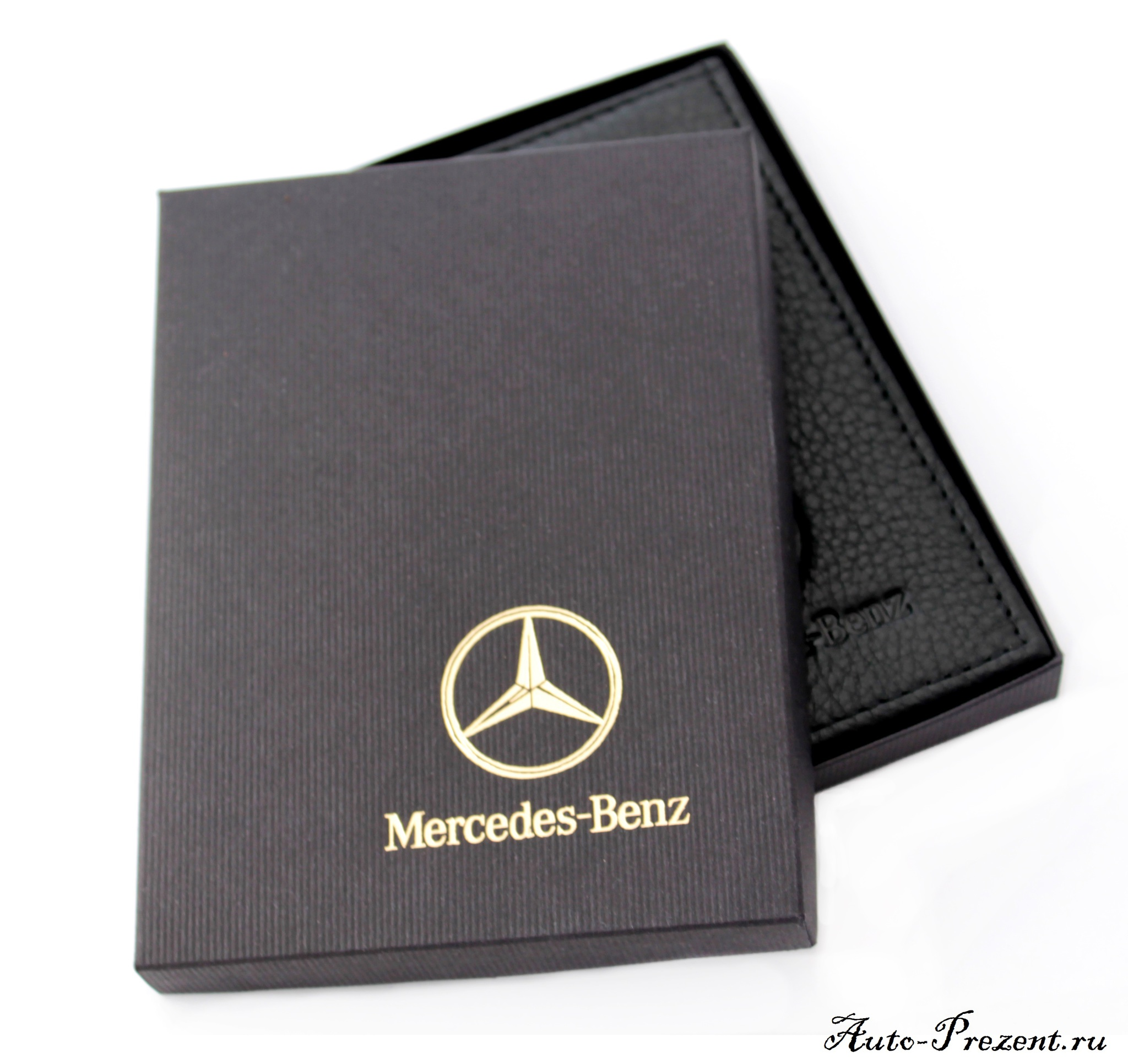Портмоне для автодокументов из натуральной кожи с логотипом MERCEDES-BENZ