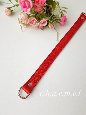 Ручка 33 см. на полукольцах, цвет Красный