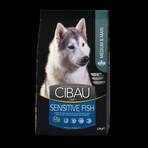 Farmina Cibau Sensitive Fish Medium & Maxi Сухой корм для собак средних и крупных пород с Рыбой