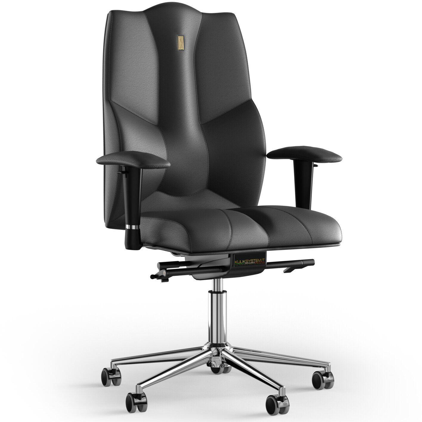 Кресло KULIK SYSTEM BUSINESS Кожа без подголовника без строчки