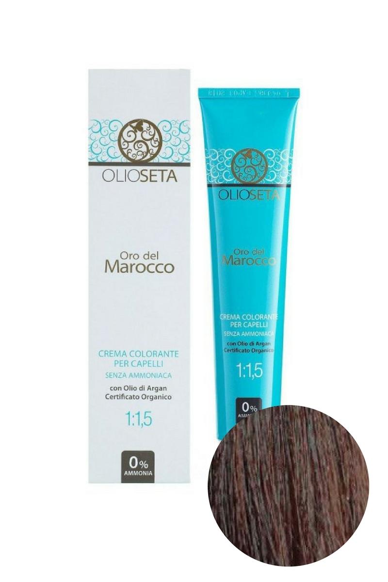 Крем-краска для волос 5.35 Светлый каштан табачный Oro del Marocco, Barex
